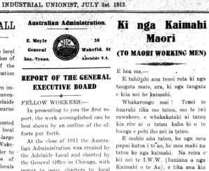 Ki nga kaimahi Maori